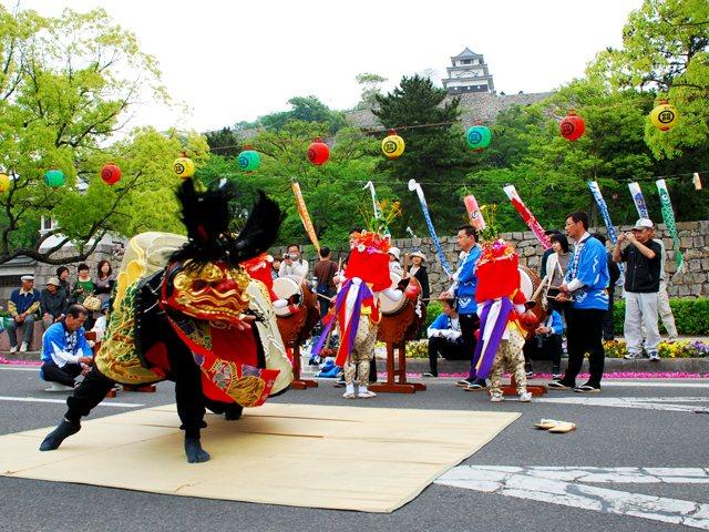 丸亀お城まつり - 祭・伝統行事...